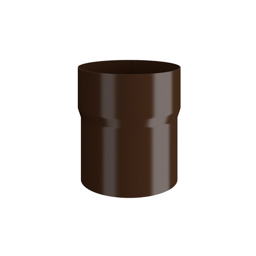 Lindab Round Pipe Connector 87mm Painted Brown