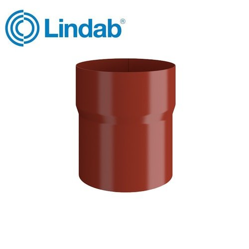 Lindab Round Pipe Connector 100mm Painted Tile Red