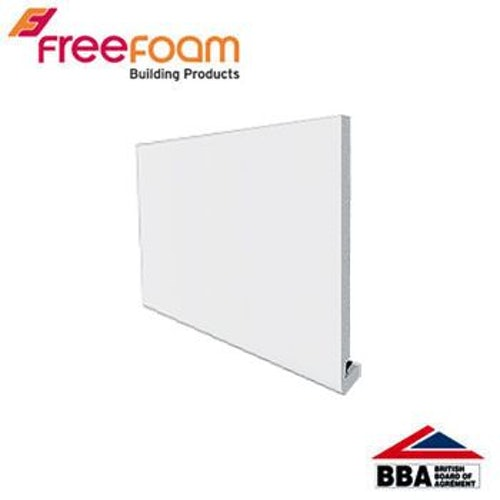 uPVC 300mm Replacement Fascia Board (18mm Square Edged) 5m  - White