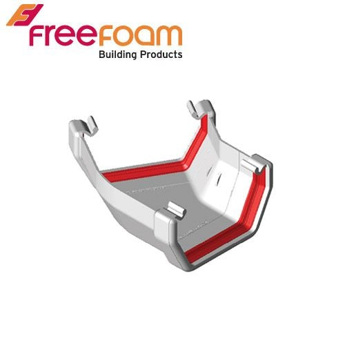 Freeflow 150 Degree Square Style Gutter Angle - White