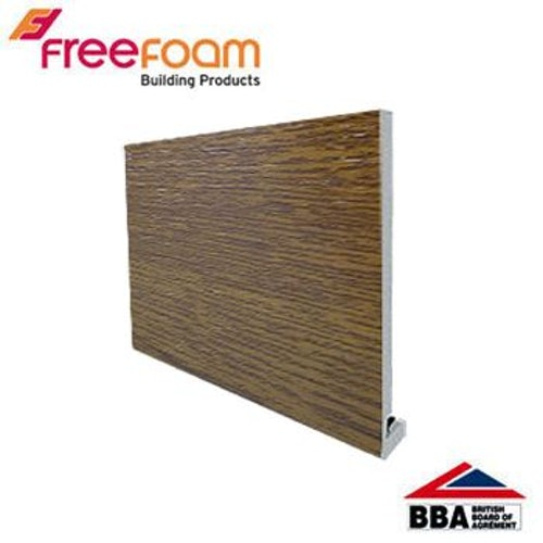 uPVC 175mm Replacement Fascia Board (18mm Square Edge) 5m - Light Oak