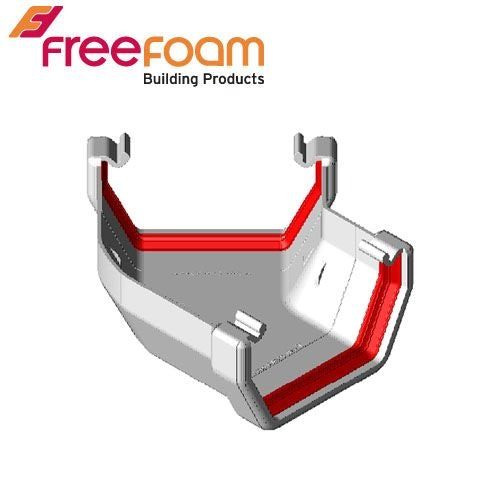 Freeflow 135 Degree Square Style Gutter Angle - White