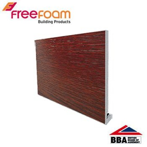 uPVC 200mm Replacement Fascia Board (18mm Square Edge) 5m - Rosewood
