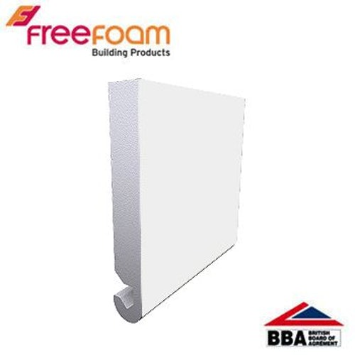 uPVC 175mm Replacement Fascia Board (23mm Bullnose Edge) 5m  - White