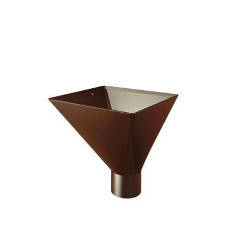 Lindab Large Square Water Hopper 100mm Painted Brown
