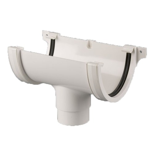 Plastic Guttering Deepstyle High Capacity Running Outlet 115mm - White