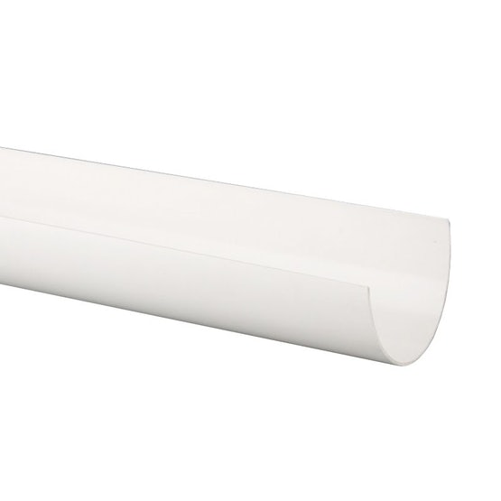 Plastic Guttering Deepstyle High Capacity 4m Length 115mm - White