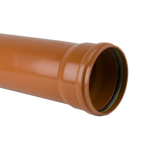 Plastic Guttering Industrial Downpipe Socketed 3m Length 200mm