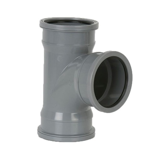 Guttering Industrial Downpipe 92.5dg Triple Socket Branch 110mm Grey