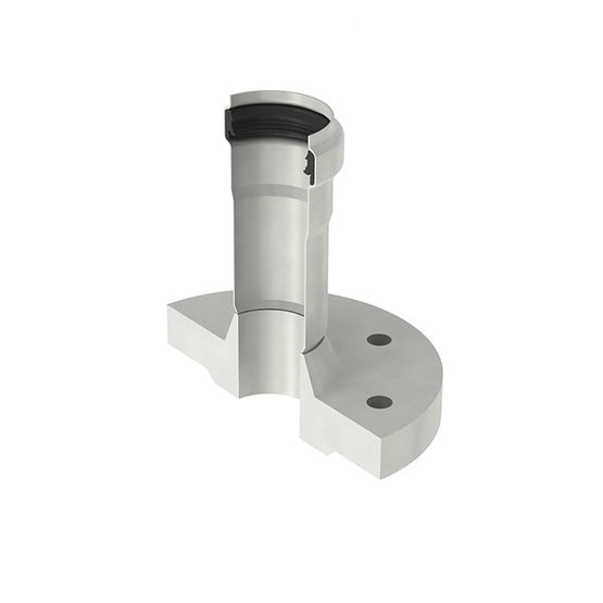 ACO Stainless Steel 316 Pipe Connector with Socket and Flange - 50mm