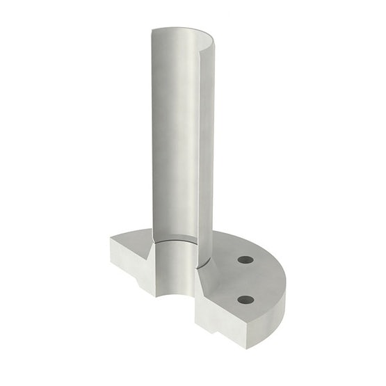 ACO Stainless Steel 316 Pipe Connector with Spigot and Flange - 75mm