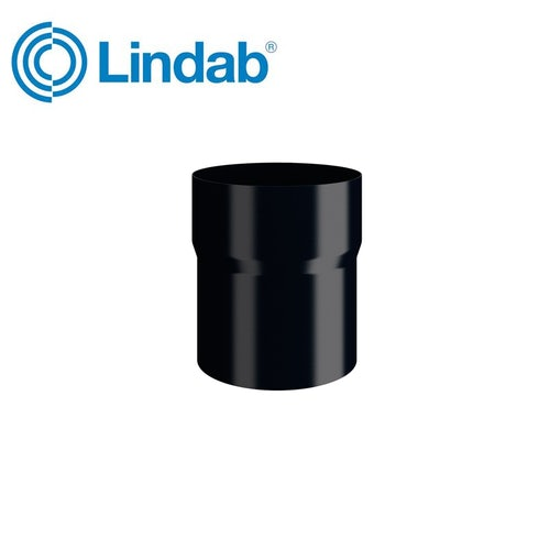 Lindab Round Pipe Connector 120mm Painted Black