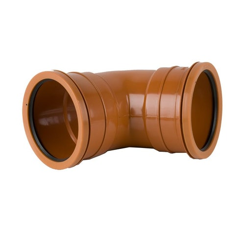 Underground Drain Pipe Double Socket Bend 67.5 Degree  - 110mm
