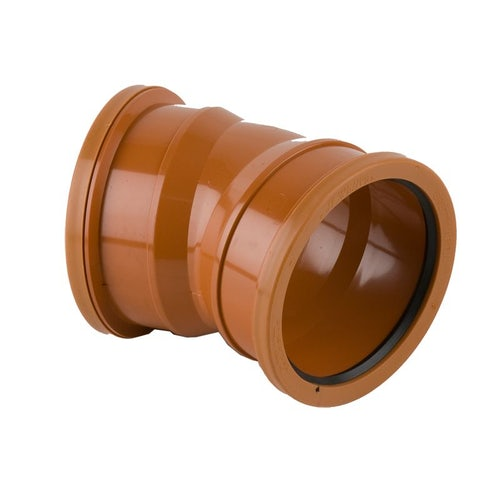 Underground Drain Pipe Double Socket Bend 22.5 Degree  - 110mm