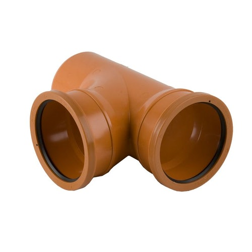 Underground Drain Pipe 87.5 Degree Double Socket Branch -110mm x 110mm