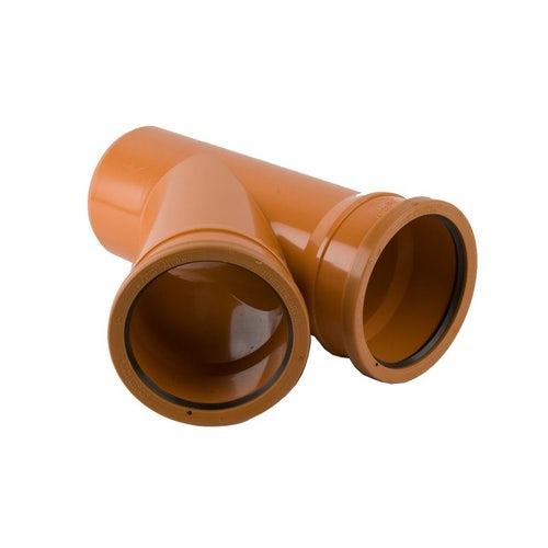 Underground Drain Pipe 45 Degree Double Socket Branch - 110mm x 110mm