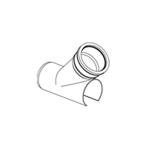 Drain Pipe Saddle Branch 45 Degree Solvent Weld Clip - 110mm x 110mm