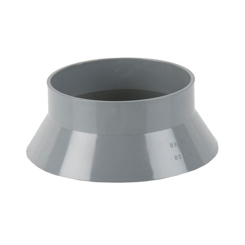 Soil Pipe Push Fit 160mm Weathering Collar - Grey