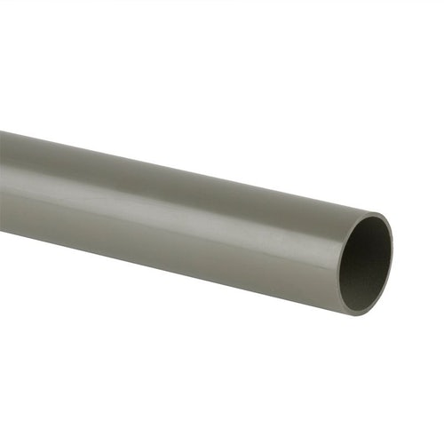 Soil Pipe Solvent Weld 3m Plain Ended Pipe 82.4mm - Grey Olive
