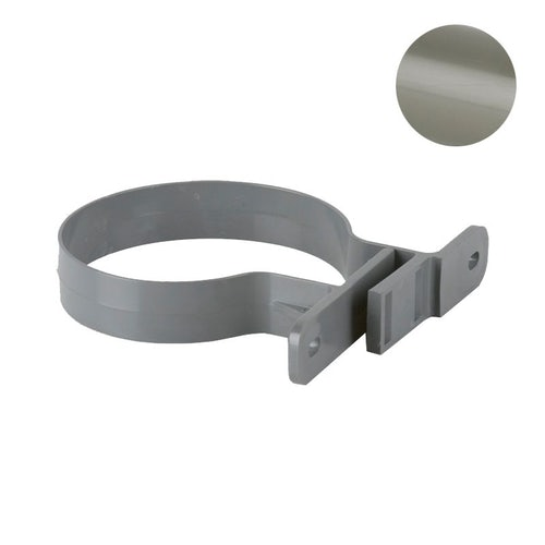 Soil Pipe Solvent Weld Pipe Clip 82.4mm - Grey Olive