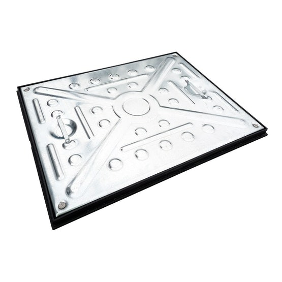 Double Sealed Access Manhole Cover and Frame 600mm x 450mm - 2.5 Tonne