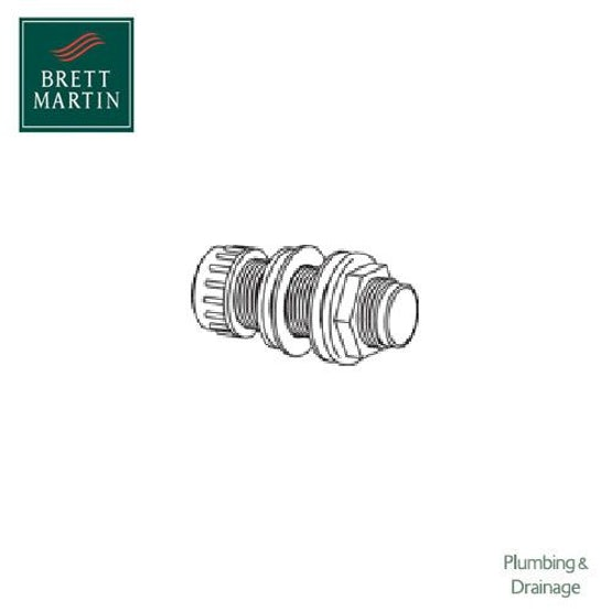 21.5mm Overflow Straight Compression Socket Tank Connector