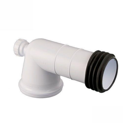 Plastic Waste Pipe Bent 90 Degree Pan Connector With Boss Inlet