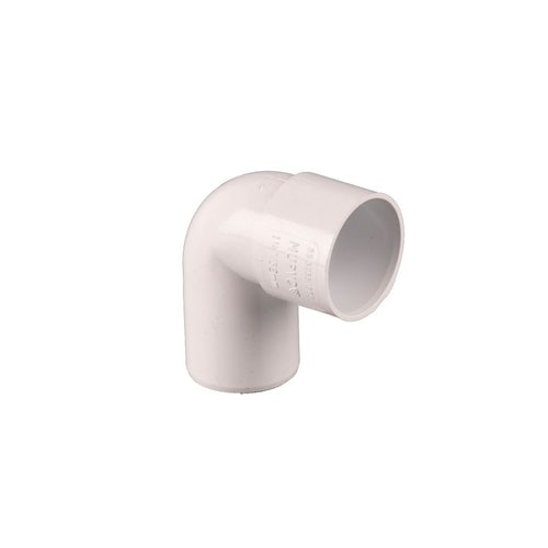 Waste Pipe Solvent Weld 90dg Conversion Bend 40mm - White