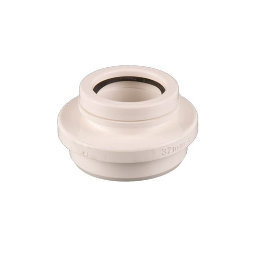 Waste Pipe Solvent Weld Ring Seal Connection 40mm - White