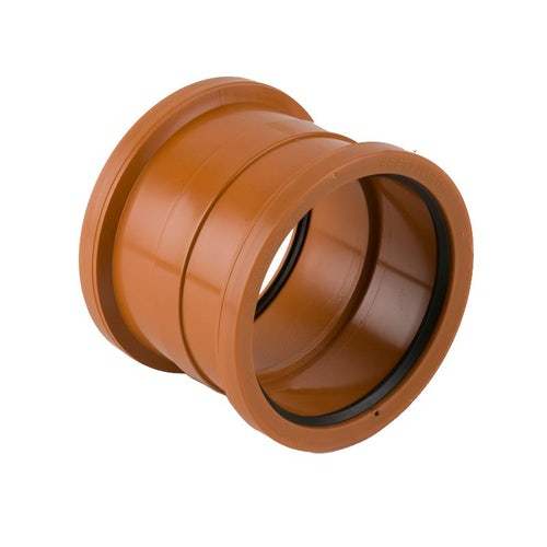 Underground Sewer Pipe Double Socket PVC BS Coupler - 315mm