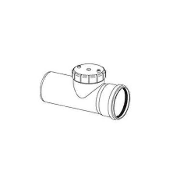 Single Socket Access Pipe with Screw On Cover - 400mm
