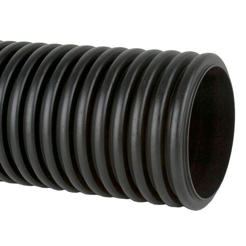 Unperforated Twinwall Surface Water Drain Pipe 6m - 375mm