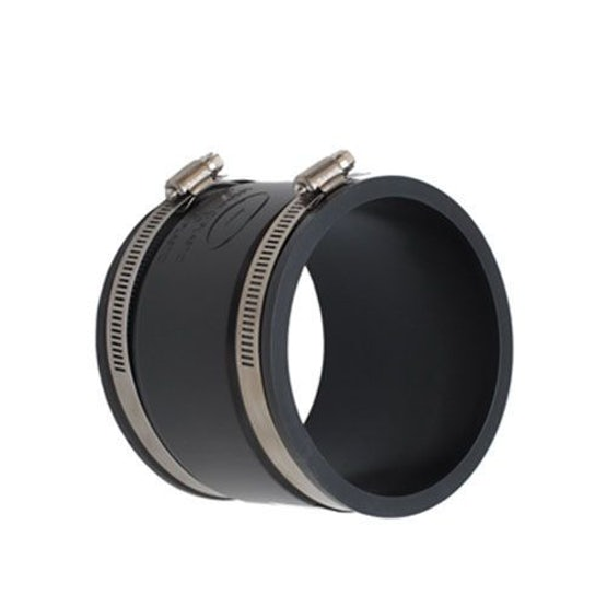 PlumbQwik 100mm PVCu Drain and Sewer Pipe EPDM Straight Connector