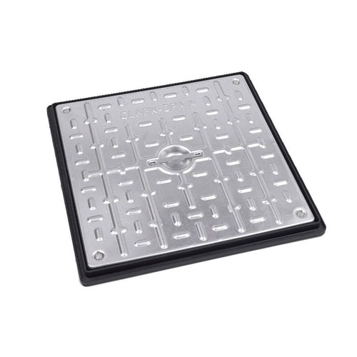 Double Sealed Manhole Cover and Frame 450L x 450W x 30H - Pedestrian