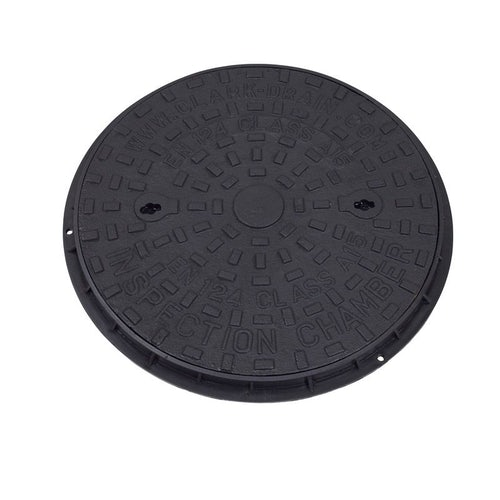 Manhole Cover and Frame with Iron Lid 450mm Round x 40mm - A15 Class