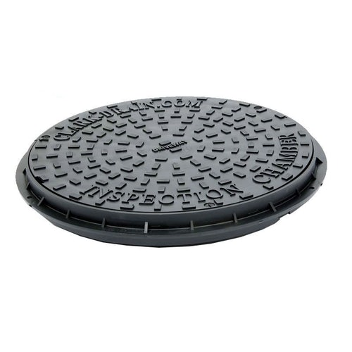 Manhole Cover and Frame with Plastic Lid 450W x 50H - 35kN