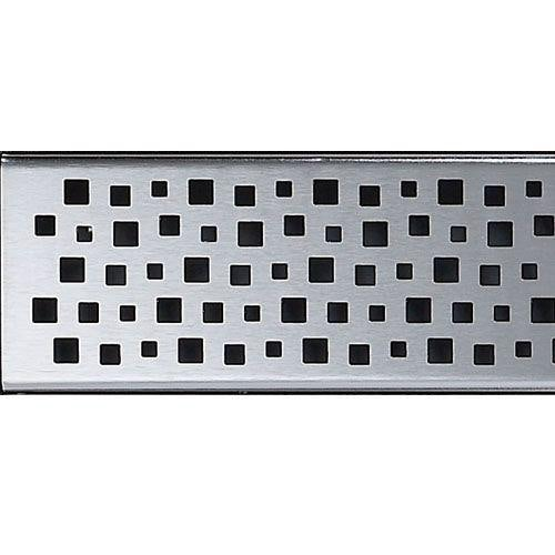 ACO Sheet Flooring Shower Drainage Channel Quatro Grating 1200mm