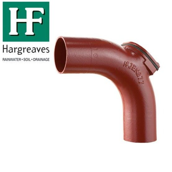 Cast Iron Soil Pipe 88 Degree Long Radius Bend With Door 100mm