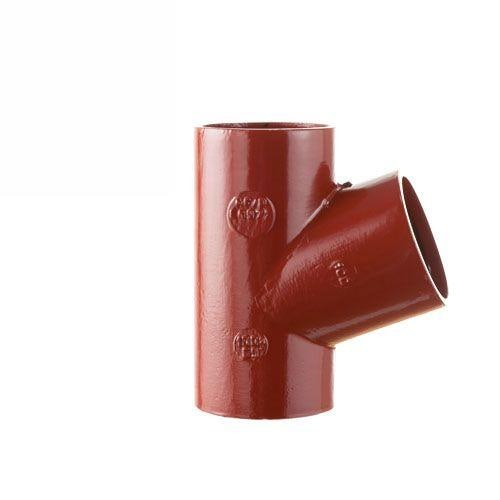 Cast Iron Soil Pipe 69 Degree Single Equal Branches 100mm x 100mm