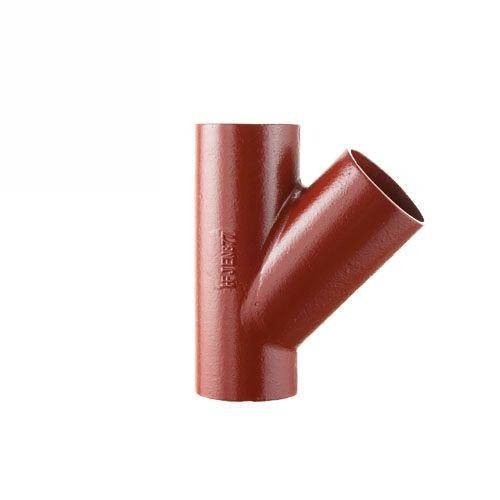 Cast Iron Soil Pipe 45 Degree Single Equal Branches 100mm x 100mm
