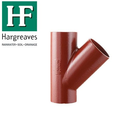 Cast Iron Soil Pipe 45 Degree Single Equal Branches 200mm x 200mm