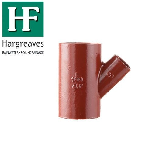 Cast Iron Soil Pipe 45 Degree Single Unequal Branches 200mm x 100mm
