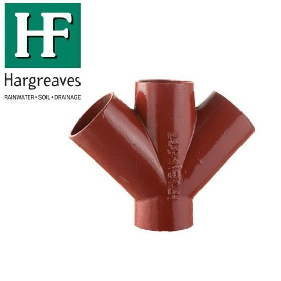 Cast Iron Soil Pipe 45 Degree Double Branch 200mm x 200mm