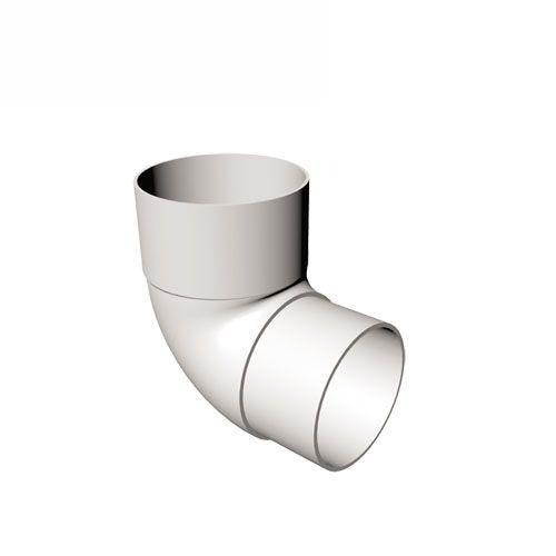Freeflow Round Plastic Downpipe 90 Degree Offset Bend White