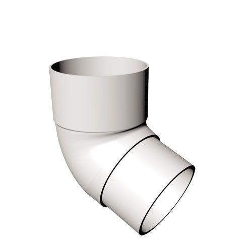 Freeflow Round Plastic Downpipe 112 Degree Offset Bend White