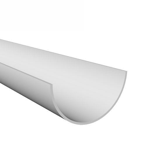 Freeflow 112mm Half Round Style Plastic Guttering 4m Length - White