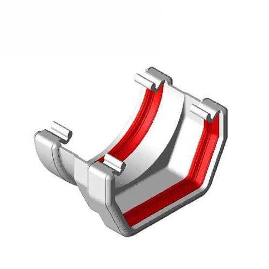 Freeflow 112mm Square To Round Gutter Adaptor - White