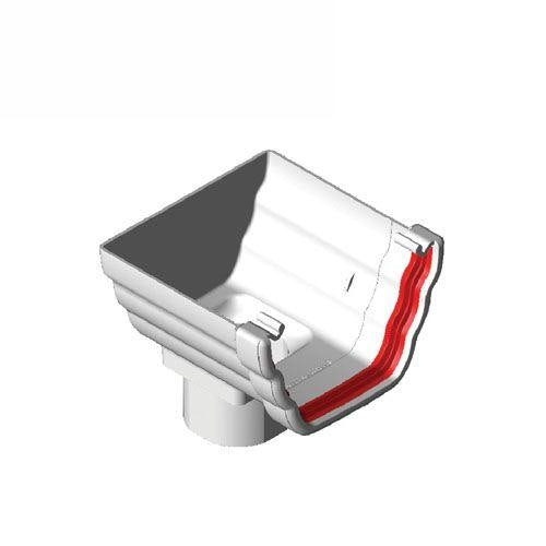 Freeflow Ogee Style Plastic Guttering Stopend Outlet - White