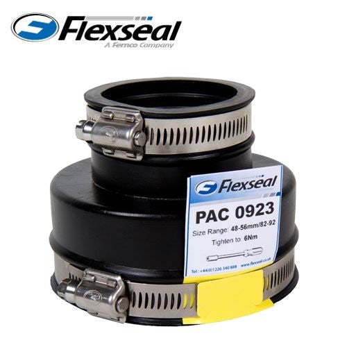 Video of Flexseal 35mm to 24mm Rubber Plumbing Drainage Adaptor Coupling