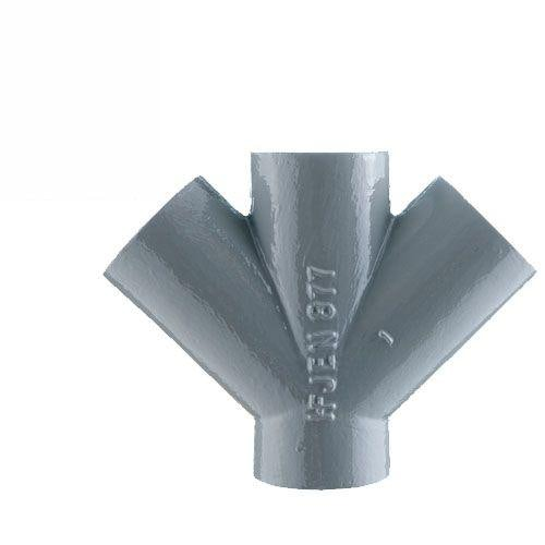 Cast Iron 45 Degree Double Drainage Pipe Branch - 150mm